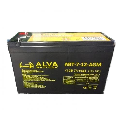 Аккумуляторная батарея ALVA battery АВТ-7-12-AGM