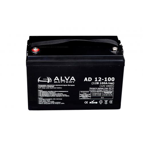Акумуляторна батарея ALVA battery AD12-100
