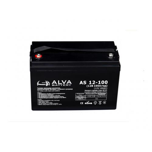 Акумуляторна батарея ALVA battery AS12-100