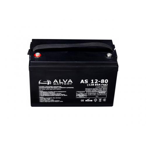 Акумуляторна батарея ALVA battery AS12-80