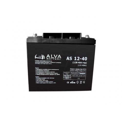 Акумуляторна батарея ALVA battery AS12-40