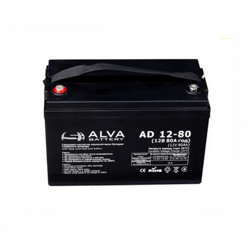 Аккумуляторная батарея ALVA battery AD12-80