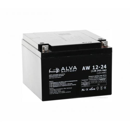 Акумуляторна батарея ALVA battery AW12-24