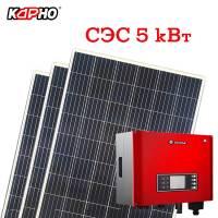 Комплект для самостоятельного монтажа солнечной электростанции  5 кВт