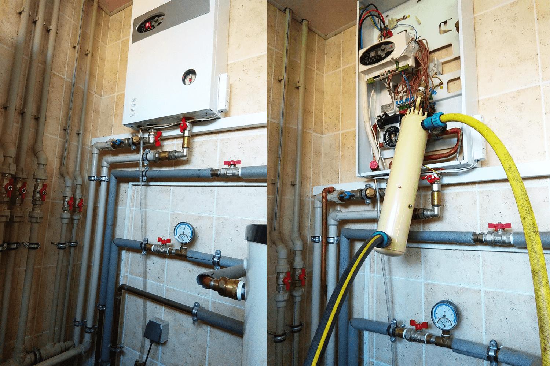 гидропневматическая промывка системы отопления цена