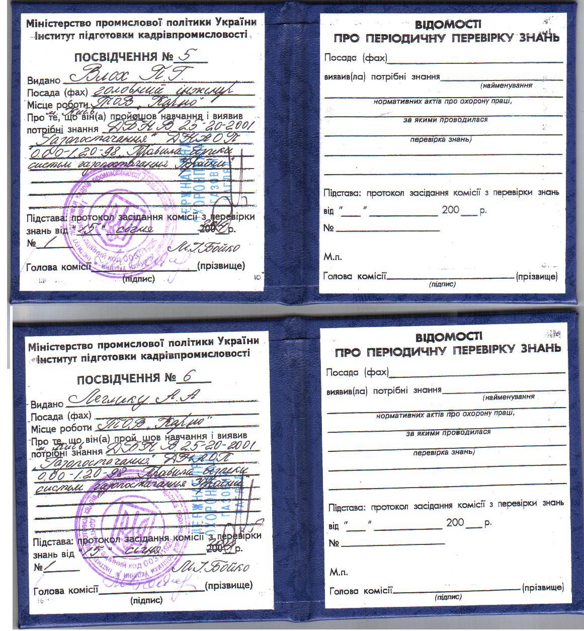 Сертификаты компании Карно