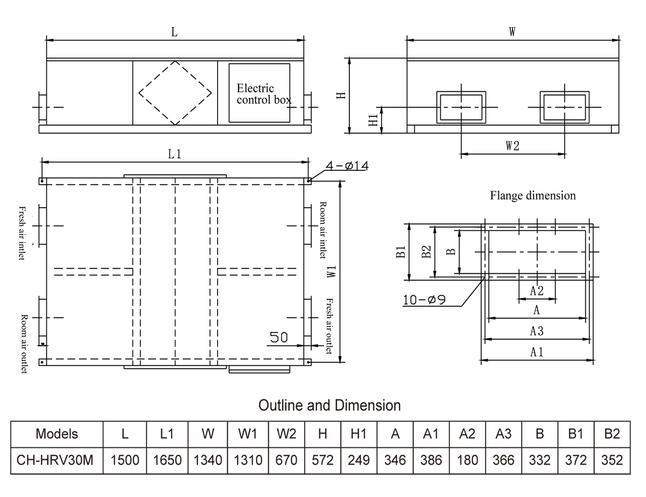 Приточно-вытяжная установка с рекуперацией Cooper&Hunter CH-HRV30M