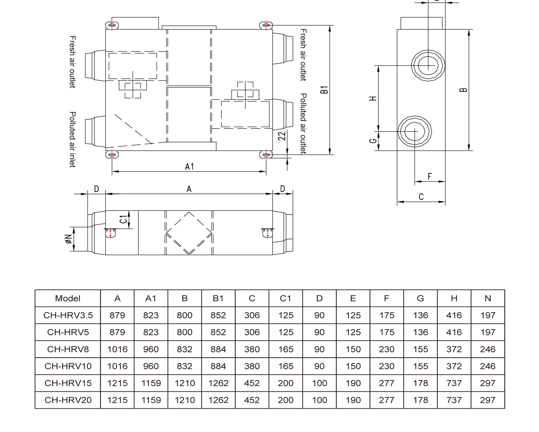 Приточно-вытяжная установка с рекуперацией Cooper&Hunter CH-HRV10K